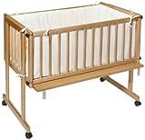 Easy Baby 161-03 Beistellwiege dream und drive natur, Inklusive Matratze 269 und Nestchen, ecru