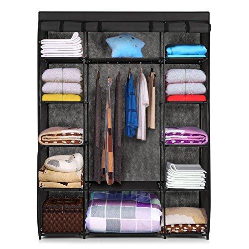 ikayaa-modern-portable-fabric-closet-storage-organizer-roll-up-clothing-wardrobe-cabinet-with-cover