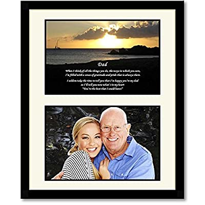 Father's Day Gift for Dad - Touching Poem From Daughter or Son - 8x10 Inch Black Frame with Mat - Add Photo
