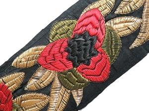 por la yarda de tela negro floral de encaje cinta coser adornos bordados nueva en BebeHogar.com