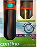 Contigo 2 Pack Vacuum-Insulated Stainless Steel Water Bottles (Black/Silver)