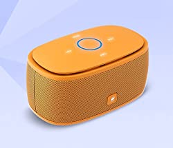KinGone K5 Bluetooth Speaker with TF Car MP3 Player and Handsfree - 360-degree and Both of Top & Bottom Surround Sound & Super Bass (Yellow)