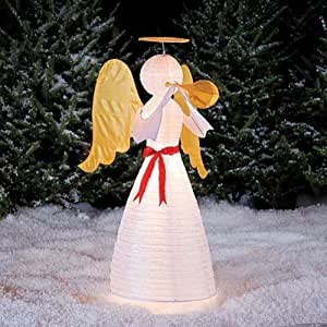 4 ft tall lighted angel christmas yard art for Angel outdoor decoration