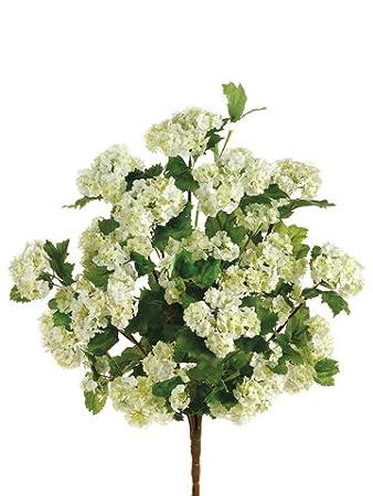 Silk Plants Direct Snowball Bush (Pack of 12) - Cream