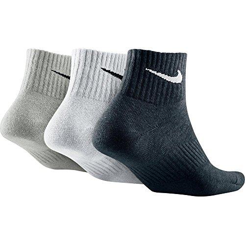 Nike No Show Socks 3PPK Lightweight Quarter, Mehrfarbig, XL, SX4706-901