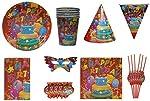 ShopAParty Happy Birthday Cake Multicoloured Party Pack