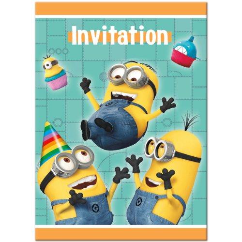 Despicable Me 2 Invitations, 8-Piece