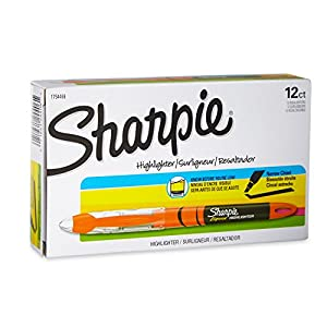 Sharpie Accent Liquid Pen-Style Highlighters, 12 Fluorescent Orange Highlighters(24406)