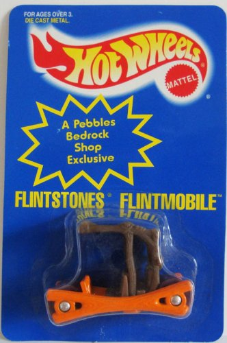 Hot Wheels 1994 Color Changing Flintstones Flintmobile 1:64 Scale - 1