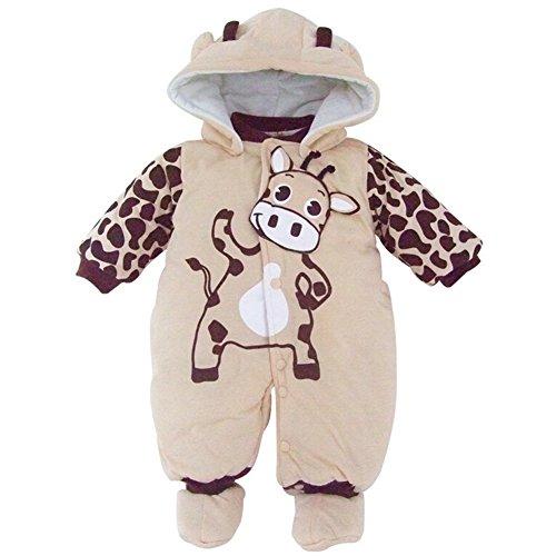 Baby-Kostum Mädchen Overall Kleidung Overall mit Kapuze...
