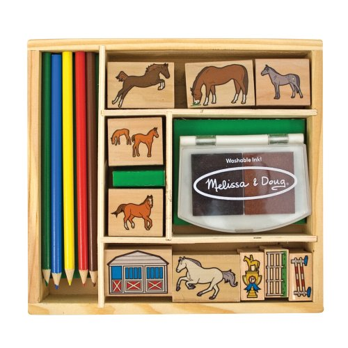 Melissa and Doug Horse Stable Stamp Se