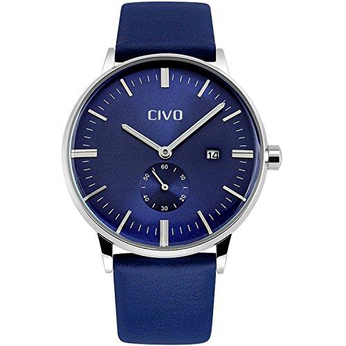 civo-mens-simple-design-blue-leather-band-wrist-watch-mens-classic-fashion-dress-analogue-quartz-wri