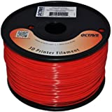 Octave Red ABS Filament for 3D Printers - 1.75mm 1kg Spool
