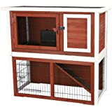 TRIXIE Pet Products Rabbit Hutch with Sloped Roof, Medium, Brown/white