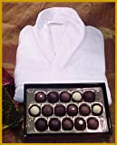 Premium Truffles in Gold Lacquer Box 16 Piece &amp; Promotional Velour Terry Robe. Truffles Are Made Using Over 99% Organic Ingredients and Are Hormone &amp; GMO Free