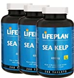 3 Bottles of Lifeplan Sea Kelp 400mg 280 Tablets (840 tablets)