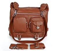 Vicenzo Lessie Genuine Leather Women Handbag/ Backpack / Shoulder / Mesenger Bag