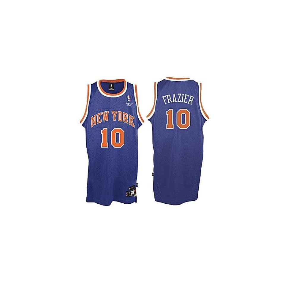 3c341895f60 Men`s New York Knicks  10 Walt Frazier Blue Swingman Jersey on PopScreen