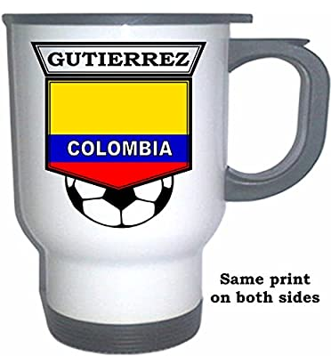 Teofilo Gutierrez (Colombia) Soccer White Stainless Steel Mug