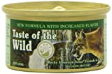 Taste of the Wild Canned Cat Food, Rocky Mountain Feline Formula in Gravy a Grain Free Diet  (Pack of 24, 3 Ounce Cans)