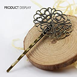 50pcs Antique Bronze Pins with Cabochon Setting Hat Pins for DIY Jewelry Making Supplies Findings BP51