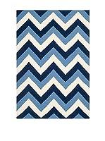 SAFAVIEH Alfombra Harlow Flatweave Dhurrie, 91 X 152 Cm (Azul Marino)