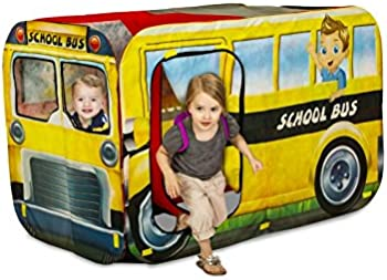 Playhut 2-in-1 School Bus and Fire Engine