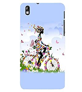 printtech Butterfly girl Back Case Cover for HTC Desire 816::HTC Desire 816 G