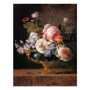 fleurs dans un vase de porceleine bleue  c 1780 art poster print by anne