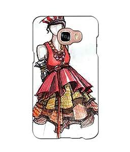 Crazymonk Premium Digital Printed 3D Back Cover For Samsung Galaxy C5