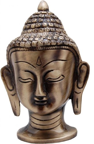 Two Moustaches Two Moustaches Brass Buddha Head Big Showpiece | Home Decor |