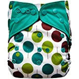 Charcoal Charcoal Bamboo AIO All-in-one Cloth Diaper with Pocket (Trees)
