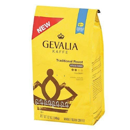 Gevalia Kaffee Traditional Roast, Whole Bean Coffee 12 oz by Gevalia (Coffee Gevalia Whole Bean compare prices)
