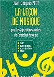 echange, troc Jean-Jacques Petit - Leçon de musique 1ère et 2ème Années