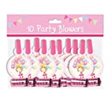 Pack 10 Childrens Birthday Party Blowers - Girls Fairy Princess