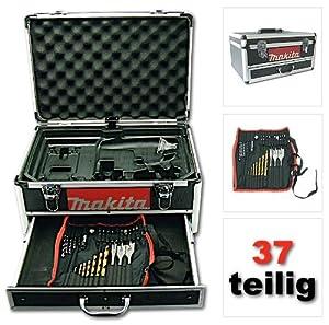 Original Makita Alu Werkzeug Schubladen Koffer ink. 37 Teiliger Werkzeugset für BDF442 BDF452 BDF456 BHP442 BHP446 BHP452 BHP456 BTD130 BTD132 BTD133 BTD140 BTD144 BTD145 BTP130 BTP140 BTW152 BTW251  BaumarktBewertungen und Beschreibung