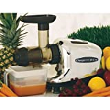 Omega J8005 Nutrition Center Single-Gear household Masticating Juicer, Chrome and Black