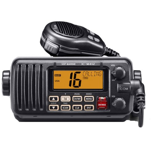 ICOM IC-M412 Marine Radio, VHF, Black Casing
