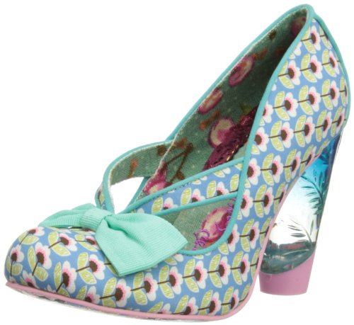 Irregular Choice Womens Hello Ha Court Shoes 3801-40 Mint 3 UK, 36 EU