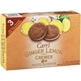 Carr's English Tea Cookies, Ginger Lemon Creme, 7.05 oz box (Pack of 3)