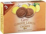 Carrs Cookies, Ginger Lemon Creme, 7.5-Ounce Boxes (Pack of 3)