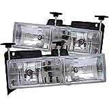 Spyder Auto Chevy C/K Series 1500/2500/3500/Chevy Tahoe/GMC C/K Series 1500/2500/3500/GMC Jimmy/GMC Yukon Chrome Crystal Glass Headlight
