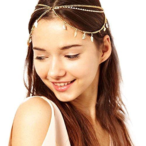 Baishitop Women Multi-Leaf Pendant Tassel Hair Band, Retro Fashion Head Chain (Arabian Head Bands compare prices)