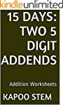15 Addition Worksheets with Two 5-Dig...