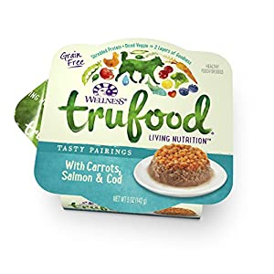 Wellness TruFood Tasty Pairings Natural Grain Free Wet Dog Food, Carrots, Salmon and Cod Recipe, 5-Ounce Can (Pack of 24)