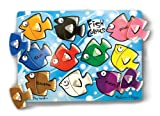 Melissa & Doug Fish Colors Mix 'n Match Wooden Peg Puzzle (10 pcs)