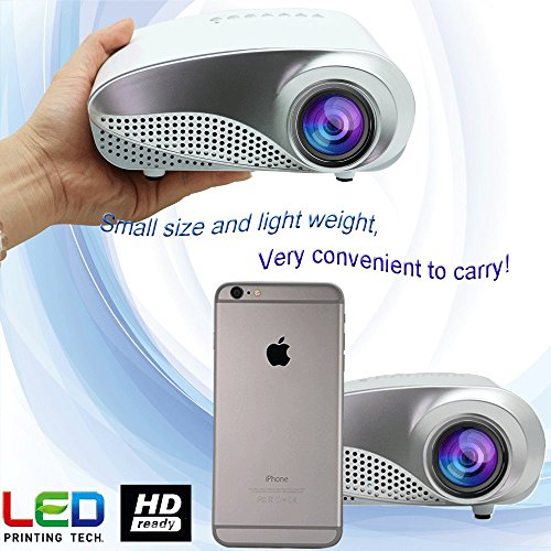 Eug lcd multimedia led mini projector 1080p 3d hdmi full for Mini projector for ipad best buy