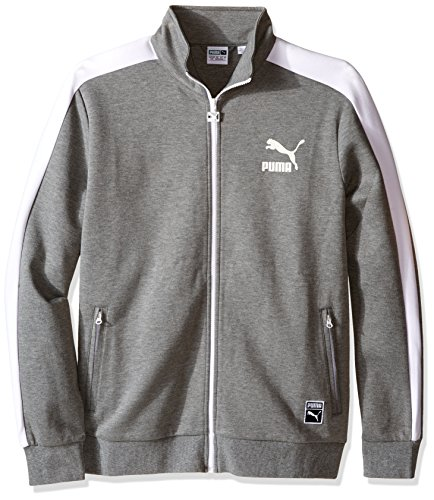 PUMA Men's T7 Track Jacket, Medium Gray Heather, XX-Large