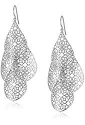 Sterling Silver Cutout Dangle Drop Earrings