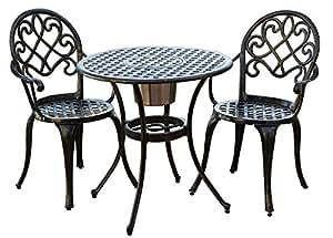 3 pc outdoor bistro furniture set patio
